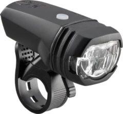 Groene AXA LED Koplamp Greenline Fietsverlichting - USB Oplaadbaar - 50 Lux - Zwart