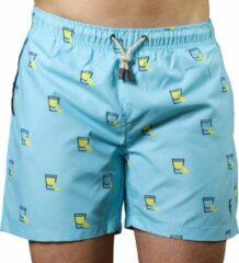 Lichtblauwe Sanwin Beachwear Sanwin Zwembroek Venice Tequila Heren - Blauw - M