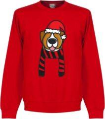 Retake Christmas Dog Scarf Kersttrui - Rood/Zwart - L