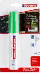 Edding Krijtmarker e-4090 - Groen - 1 stuk - krijtmarkers - raamstift - raamstiften - chalkmarker -– krijtstift – glasstift – schoolbordstift – krijtbordstift – stoepbordstift