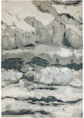 Antraciet-grijze Eazy Living Easy Living - Aurora-aU05-Quartz Vloerkleed - 80x150 cm - Rechthoekig - Laagpolig Tapijt - Industrieel - Antraciet, Grijs