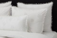 Witte Flamant Home Linen Mix&Match - Set Kussenslopen - 60 x 70 cm - Tassel Wit