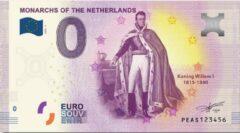 Paarse 0 Euro Biljet 2020 - Vorsten van Nederland - Koning Willem I