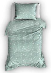 Groene Duimelot Dekbedovertrek Etoiles Misty Green-100 x 135 cm