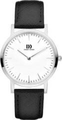 Zilveren Danish Design watches edelstalen dameshorloge London White Silver/Black Medium IV10Q1235