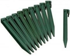 Nature NATUUR Zakje van 10 ankers voor polypropyleen tuinrand - H 26,7 x 1,9 x 1,8 cm - Groen