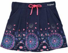 Desigual rok met printopdruk donkerblauw/lichtblauw/roze