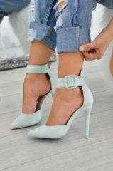 Blue Alx Trend Decolletè scamosciate con cavigliera e tacco alto Yuma Azzurre