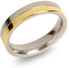 Boccia 0129-02 Ring Titanium zilver- en goudkleurig 4,3 mm Maat 58