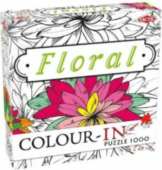 Witte Tactic Colour-In Puzzle Floral 1000 stukjes