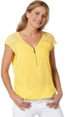 Gele Classic Inspirationen shirt met een afgeronde zoom