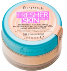Roze Desigual Rimmel London Fresher Skin Spf15 Natural Foundation 201 Classic Beige