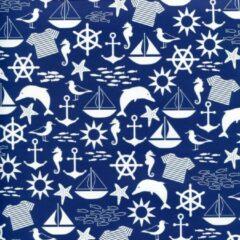 Blauwe Enper Maritiem - Luxe Cadeaupapier - Inpakpapier - 300 x 70 cm - 5 rollen