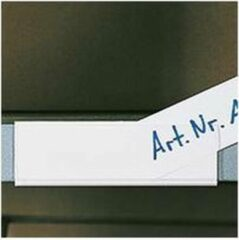 Merkloos / Sans marque Etikettenhouders, witte achterkant, transparante voorkant, 100/VE 100 x 30 mm