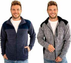 Merkloos / Sans marque Fleece vest grijs/zwart maat L