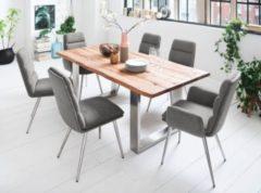 Esstisch 200 x 100 Wildeiche lackiert mit Baumkante und Kufengestell MCA-Furniture Matras