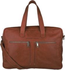 Bruine Cowboysbag Bag Kyle Schoudertas Cognac 2170