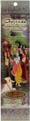 Prabhuji's Gifts Wierooksticks handgerold, 'Govinda' met sandelhout, salie en lavendel