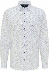 Blauwe Fynch-Hatton FYNCH HATTON Overhemd Premium Summer 6080 maat M
