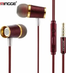 M21 High Bass In-Ear Oordopjes met 3.5mm Jack Oortjes voor Apple iPhone / Samsung Galaxy / Huawei - bruin