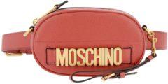 Rosa MOSCHINO COUTURE Marsupio Mini In Pelle Liscia Con Maxi Logo Metallico Moschino