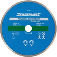 Silverline diamant tegel snijschijf 180 x 22,2 mm