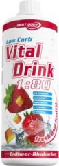 Best Body Nutrition Low Carb Vital Drink - 1000 ml - Strawberry Rhabarber