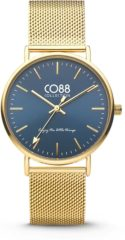 CO88 Collection Watches 8CW 10012 Horloge - Mesh Band - Ø 36 mm - Goudkleurig