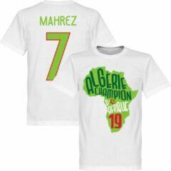 Retake Algerije Afrika Cup 2019 Winners Mahrez Map T-Shirt - Wit/ Lichtgroen - XXXL