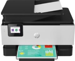 HP Officejet Pro 9019 All-in-One Premium Aluminium Multifunctionele inkjetprinter (kleur) A4 Printen, scannen, kopiëren, faxen LAN, WiFi, Duplex, Duplex-ADF