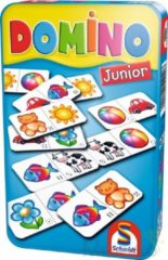 999 Games Domino Junior In Tin Box Pocketeditie - Reisspel