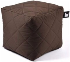 B-bag extreme lounging Extreme lounging B-Box Quilted Poef - Bruin