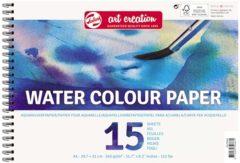 Witte Water Colour paper A4-formaat 240g/m FSC-mix 15 vellen in een dubbelspiraal gebonden blok - aquarel aquarelverf waterverf papier