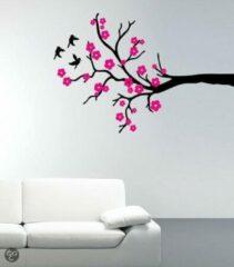 Zwarte Coart by Artikel Coart Muursticker Cherry Blossom - velours muursticker
