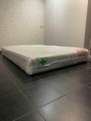 Witte Esila 140x200 7 zones pocketvering matras met nasa traagschuim 25 CM Aloë vera