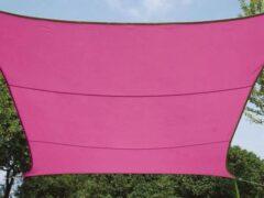 Roze Velleman ZONNEZEIL - RECHTHOEK - 2 x 3 m - KLEUR: FUCHSIA