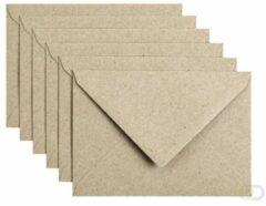 Papicolor Envelop Formaat 114 X 162 Mm C6 Kleur Recycling Grijs