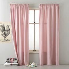 Okee! Fam 82 - Kant en klaar gordijn - Zacht roze - 140x270 cm - Per stuk