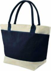 Marineblauwe O'DADDY Koeltas / strandtas / picknicktas / lunch tas 2 vakken - 16L - navy - blauw