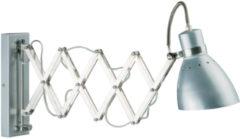 Zilveren Steinhauer Spring - Wandlamp - 1 lichts - Staal - Scharnier
