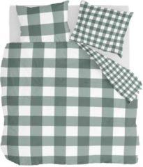 Byrklund Falsterbo - Dekbedovertrek - Lits-jumeaux - 240x200/220 cm + 2 kussenslopen 60x70 cm - Groen