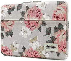 Blauwe Canvaslife MacBook Pro Hoes / Sleeve 15 inch - White Rose