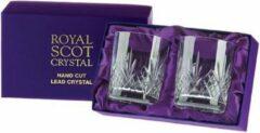 Transparante Royal Scot Crystal Highland Tumbler Cadeau-Set 21cl