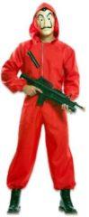 Rode EUROCARNAVALES - Luxe cadeauverpakking Casa de Papel voor volwassenen - XL - Volwassenen kostuums