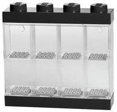 Paarse Lego Storage Opbergbox - Voor 8 Mini Characters - Zwart