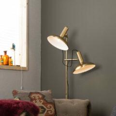 Goudkleurige Dutchbone Karish vloerlamp brass metaal