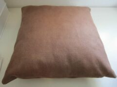 ZoeZo Design Sierkussen, chocolade bruin, 42 x 42 cm