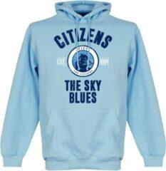 Lichtblauwe Merkloos / Sans marque Manchester City Established Hooded Sweater - Wit - M