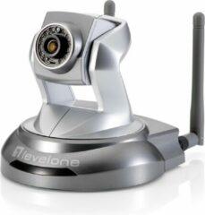 Zilveren Level One LevelOne WCS-6020 bewakingscamera IP-beveiligingscamera kubus Bureau/plafond 1920 x 1080 Pixels