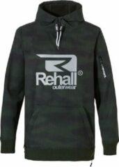 Rehall Jeff-R shoftshell Anorak heren snowboard jas groen dessin
